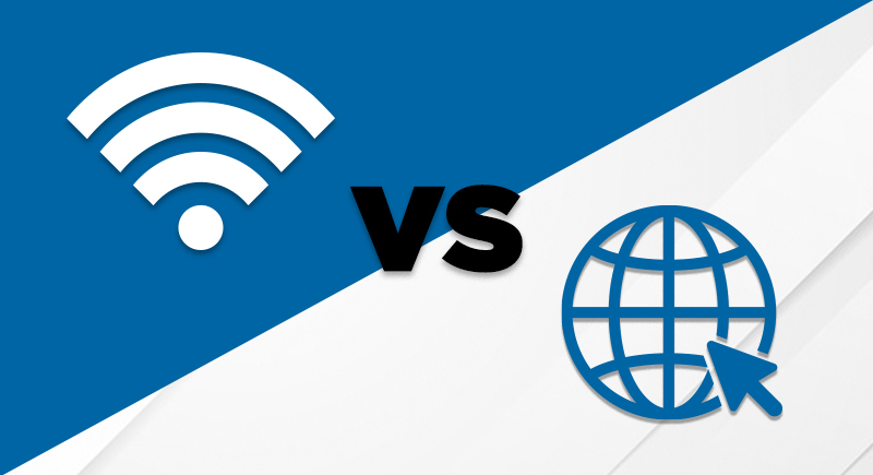 Internet vs. Wi-Fi